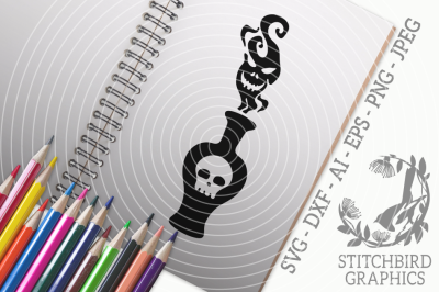 Halloween Poison SVG, Silhouette Studio, Cricut, Eps, Dxf, AI, PNG