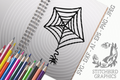 Halloween Spider Web SVG, Silhouette Studio, Cricut, Eps, Dxf, AI, PNG