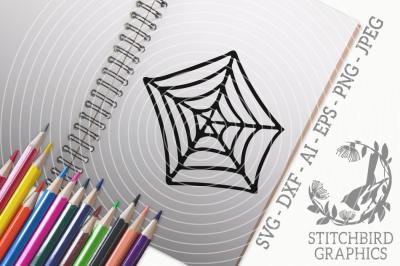Spider Web SVG, Silhouette Studio, Cricut, Eps, Dxf, AI, PNG, JPEG