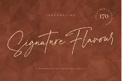 Signature Flavour | Handwritten Font