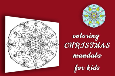 Christmas Coloring Mandala