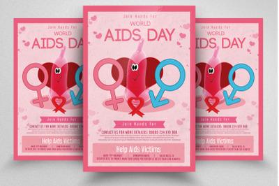 World Aids Day Awareness Flyer Template