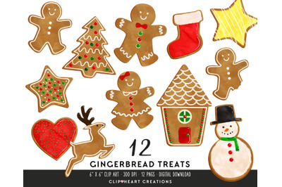 Gingerbread Treats Clipart
