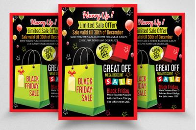 Black Friday Sale Offer Flyer/Poster