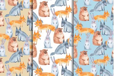 Forest animals. Patterns set