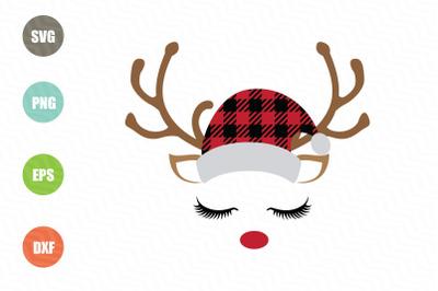 Reindeer SVG Buffalo Plaid