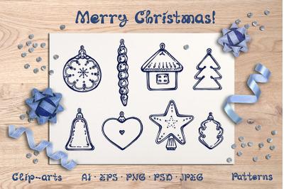 Christmas Hand Drawn Design Kit