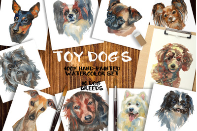 """""""Toy dogs"""" watercolor set"""