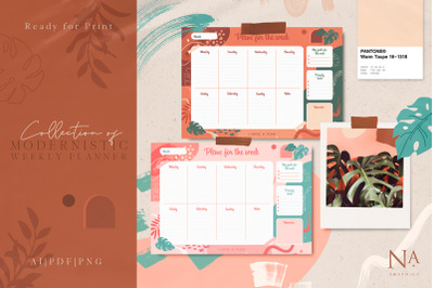Modernistic Weekly Planner