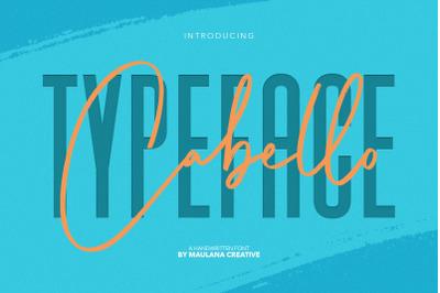 Cabello Handwritten Sans Font