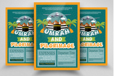 Hajj and Umrah Flyer Template