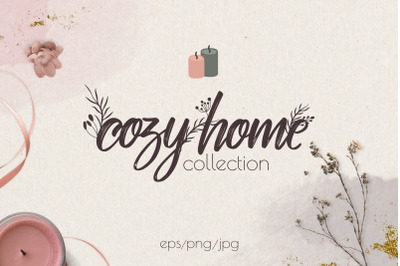 Hygge winter collection. Cozy home.