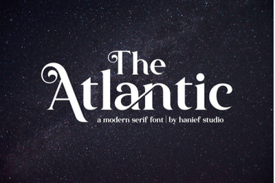 The Atlantic//Modern Serif Font