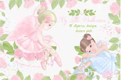 Ballet PNG clipart bundle Commercial & personal use. Ballerina