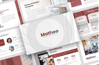 Matheo  Creative PowerPoint Template