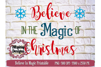 Believe In Magic Sublimation and Printable Design