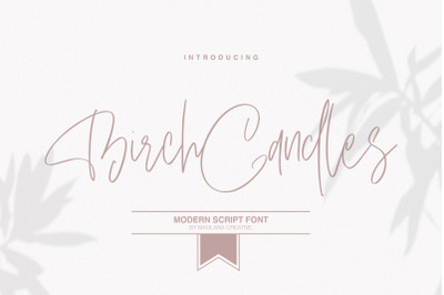 Birch Candles - Handwritten Font