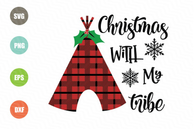 Christmas With My Tribe SVG Design