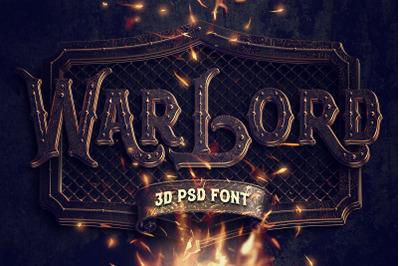 War Lord PSD Alphabet