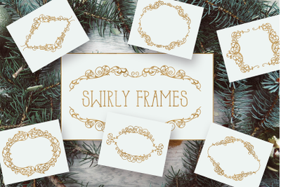 Swirly Frames SVG Files Pack with 7 Cut Files