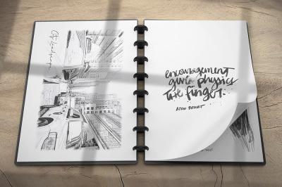 Sketchbook Mockup v1