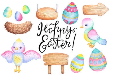 Watercolor Easter Set + Bonus!