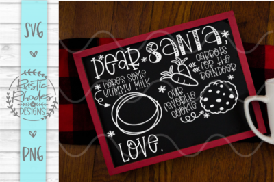 Santa Tray - Milk, Cookies, Carrots {More than one child} SVG and PNG