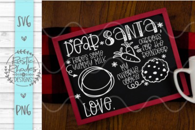 Santa Tray - Milk, Cookies, Carrots {From ONLY Child} SVG and PNG Digi