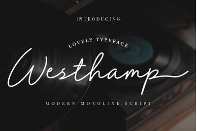 Westhamp - Monoline Script Font