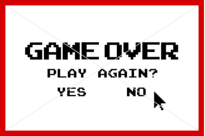 Game Over svg, Instant download, Cut File