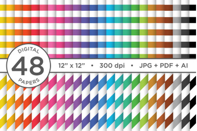 Rainbow Seamless Stripes Digital Paper