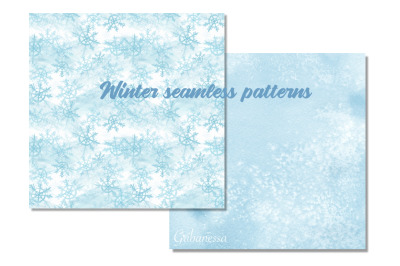 Winter seamless pattens