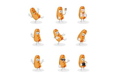 Hotdog mascot logo