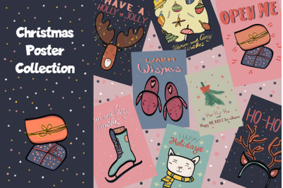 Christmas and New Year Poster collection