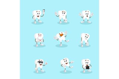 Tooth mascot logo