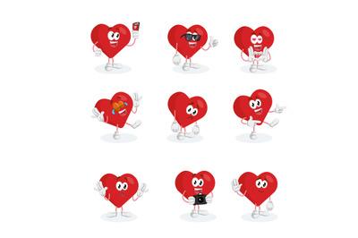 Valentine mascot logo