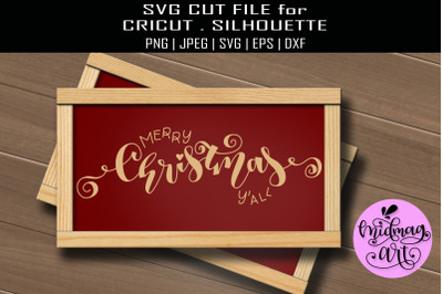 Merry christmas yall sign svg, christmas sign svg
