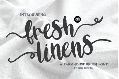 FRESH LINENS a Distressed Brush Script Font