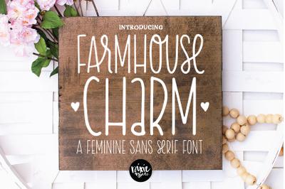 FARMHOUSE CHARM a Skinny Sans Serif Font