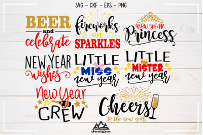 New Year Crafts Svg Design