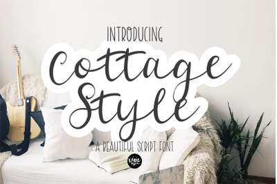 COTTAGE STYLE a Calligraphy Script Font