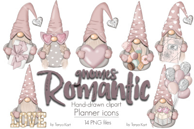 Romantic Nordic Gnomes Planner Icons