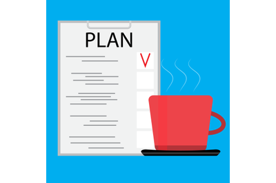 Morning coffee with planning