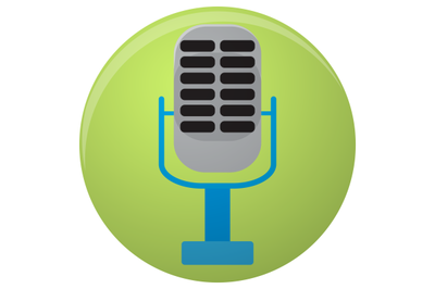 Icon colored microphone