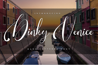 Dinky Venice -Hand lettered font