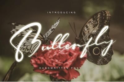 Butterfly - Handwritten font