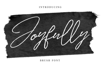 Joyfully - Brush font