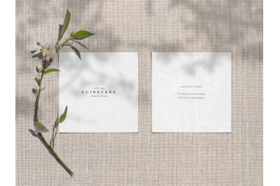 Embossed Square Cards Mockup Pt. 1