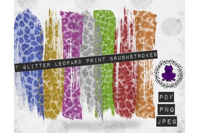 Brushstroke Bundle Glitter Leopard print