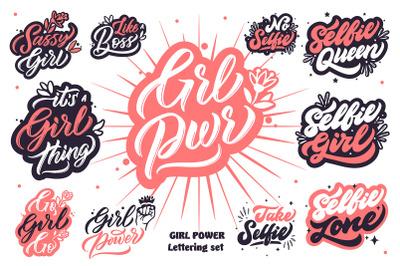 GIRL POWER lettering set